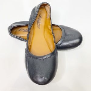 Lucky Brand Black Leather Ballet Emmie Size 8